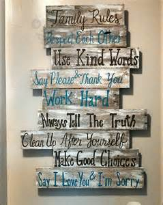 Wood Wall Decor Sayings House Rules Sign Family Rules Sign Wood Signs Wood Signs