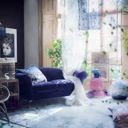 Decorating Ideas For Living Room Purple Mysterious Purple Living Room Modern Decorating Ideas