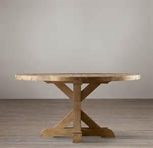 Wood working round farmhouse table diy