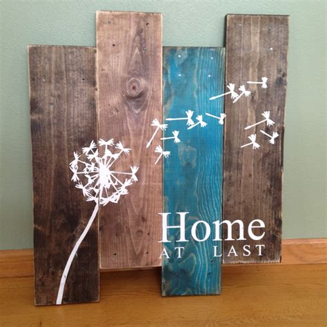 wooden wall hanging dandelion wall hanging home at last rustic wall decor teal