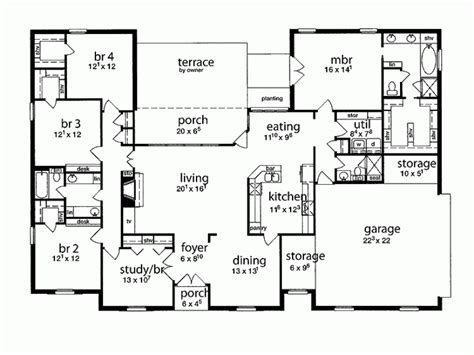 floor plans for 5 bedroom house eplans tudor house plan five bedroom tudor 2349 square