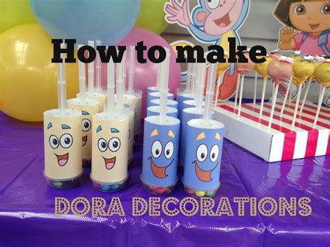 Dora The Explorer Printable Party Decorations | how to make dora the explorer party decorations with free