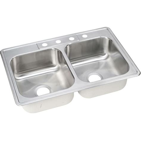 Kitchen Sink Home Depot Elkay Neptune Drop In Stainless Steel 33 In 4 Bowl Kitchen Sink Nlbw33224 The