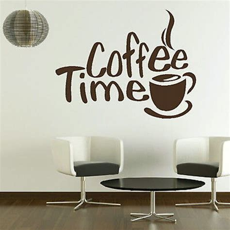 a for all time shop coffee time wall sticker 2016 new creative adesivo de