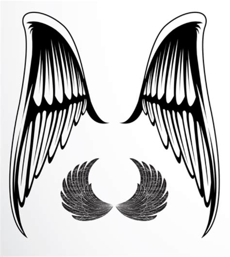 single wing tattoo designs black henna stencils single wing meaning