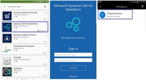 mobile app mobile apps for dynamics for operations is available