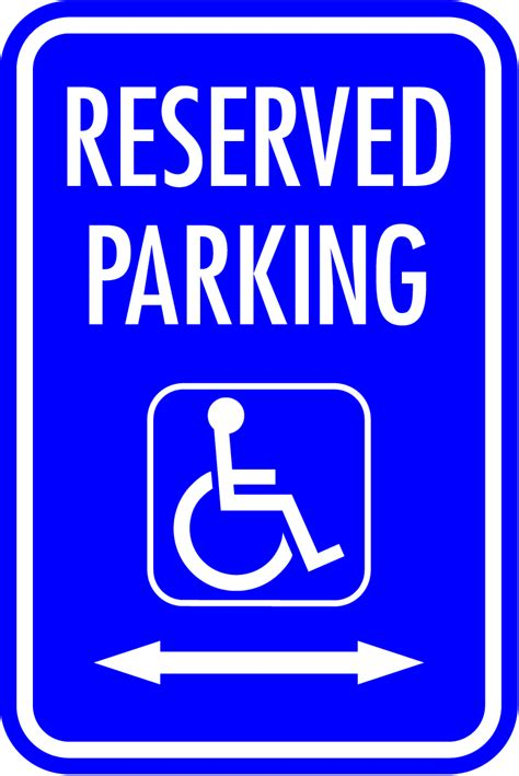 handicap parking signs printable cliparts co
