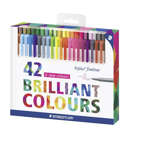 staedtler color pen set 334c42 set of 42 assorted colors