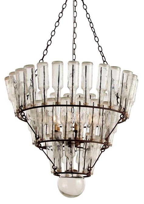Glass Bottle Chandelier with Arteriors Fifty Two Vintage Bottle Chandelier 3 Lightopia S The In Lighting
