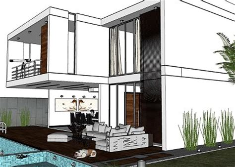 House Plan Free Software free 3d models houses villas modern house with pool