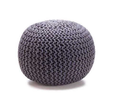 gumball ottoman charcoal grey knitted gumball ottoman pouffe foot stool or