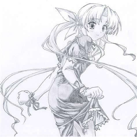 Anime. Manga Illustration Kawaii Pencil Drawing by