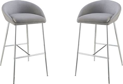 Grey Upholstered Bar Stools by Rec Room Grey Upholstered Bar Stool Set Of 2 102525