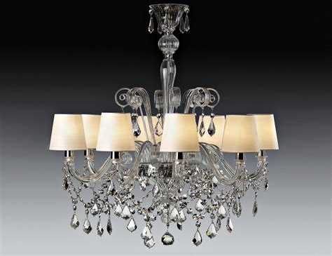 Chandeliers Miami Nella Vetrina Miami 10005 8 Venetian Chandelier In Clear Glass