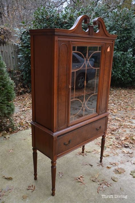 thrift store china cabinet before after my china cabinet makeover using beyond