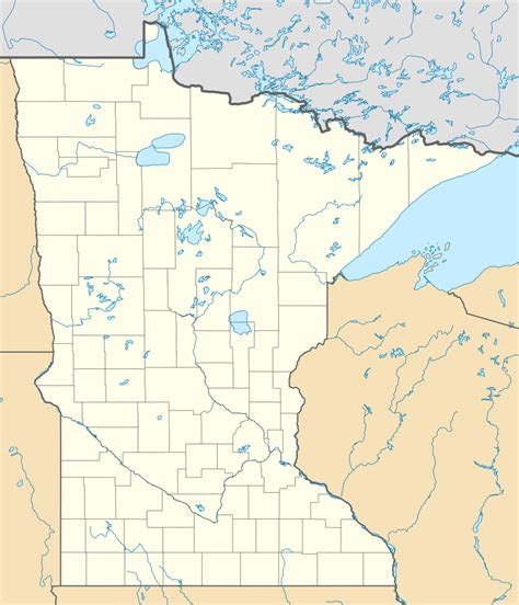 minnesota on the map of usa file usa minnesota location map svg wikimedia commons