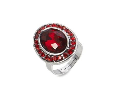 58128 antique silver ruby ring by city