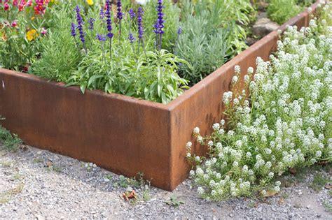 corten planters punchclock metalworks