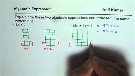 pattern algebraic expression finder equivalent algebraic expression for pattern block youtube
