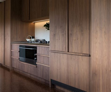 kitchen cabinet veneer kitchen for simon devitt by bureaux walnut veneer