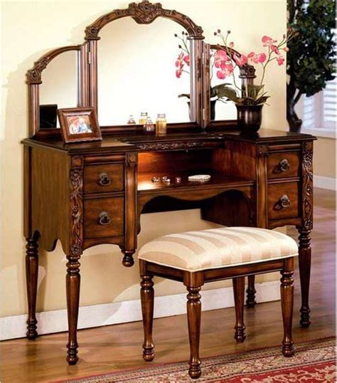 Wooden Vanity Set Oak Vanity Set Ac 540 Bedroom Vanity Sets