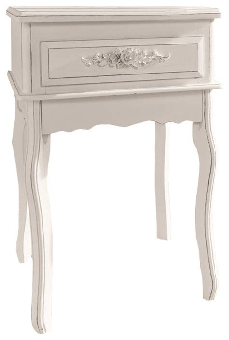 white shabby chic console table antique white shabby chic wood console table rosebuds