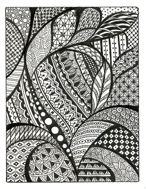 pattern drawing pictures zentangle patterns free similar galleries cool simple