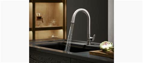 sensate touchless kitchen faucet k 72218 b7 sensate touchless pull kitchen sink