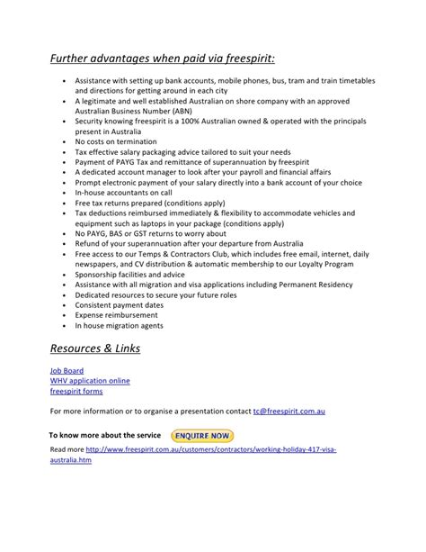 Sample Resume For Bank by Working Holiday 417 Visa Australia