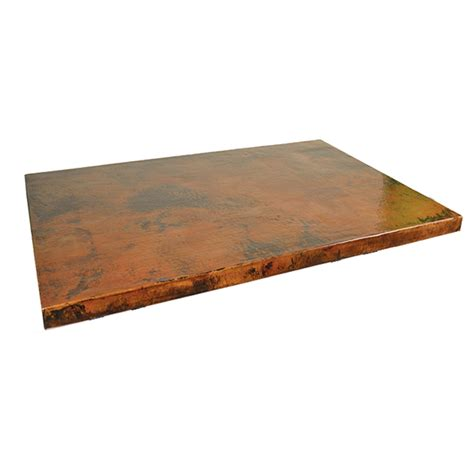 copper top tables mathews company copper table top square 80303