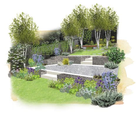a life designing how to design a sloping garden q how can i make the most of my sloping garden garden