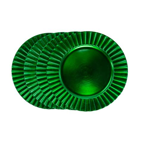 shamrock green shamrock green charger pates set of 4 plates