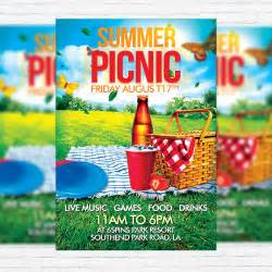 summer c flyer template summer picnic premium flyer template cover