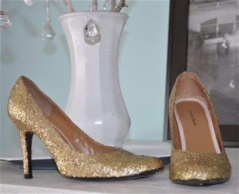 diy gold glitter shoes 17 best images about mod podge it on window