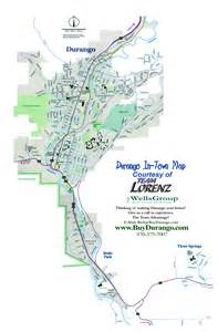 map of durango colorado and surrounding cities durango city map