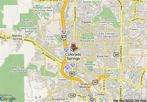 map of econo lodge downtown colorado springs