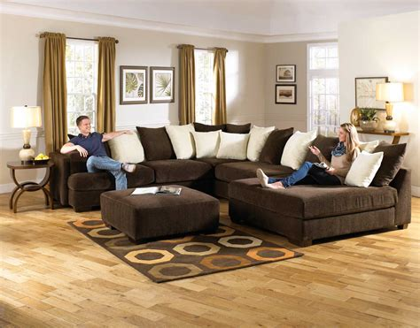 Jackson Sectional Sofa Jackson Axis Large Sectional Sofa Set Chocolate 4429 62 36 38 Set Chocolate Homelement