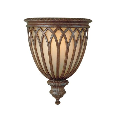 Bronze Wall Sconce wall sconce in decorative bronze cage design glass