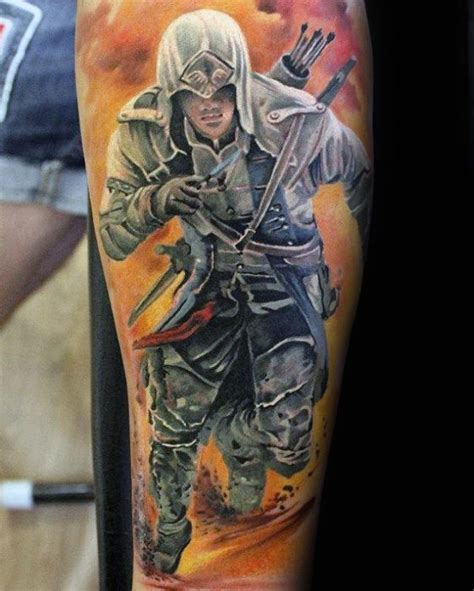 assassins creed tattoo sleeve 60 assassins creed tattoo designs for men video game ink
