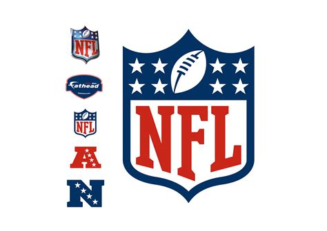 nfl fatheads wall stickers nfl logo wall decal shop fathead 174 for nfl decor