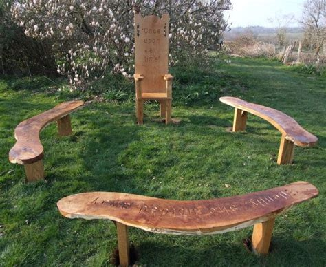 natural wood garden bench 56 best images about school garden seating ideas on
