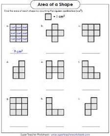 area worksheet counting squares llol x pinterest