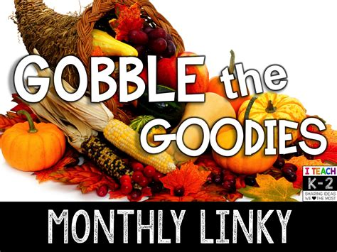 Freebies And Giveaways - november s gobble the goodies freebies and giveaway fern smith s classroom ideas