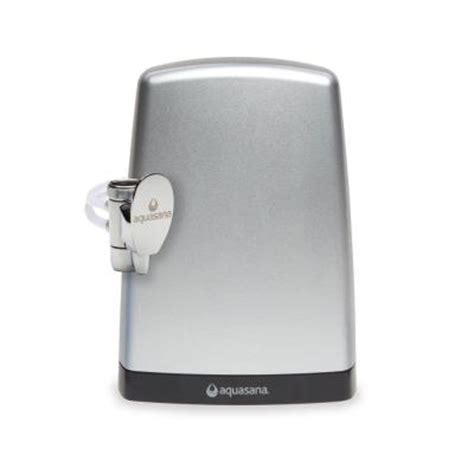 aquasana counter top water filter premium brushed steel aq