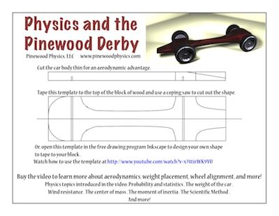 fast pinewood derby car templates beepmunk