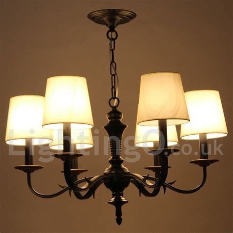 dining room candle chandelier 6 light dining room living room bedroom rustic retro