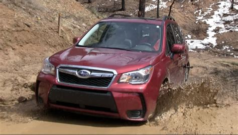 subaru forester xt off road 2014 subaru forester xt muddy off road drive review