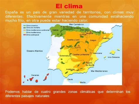 zonas climaticas de espana las zonas climaticas de espana espa 209 a geograf 237 a y
