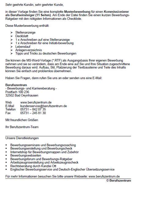 Bewerbungsschreiben Kommissionierer Bewerbung Kommissionierer In Berufseinsteiger Sofort Downloade