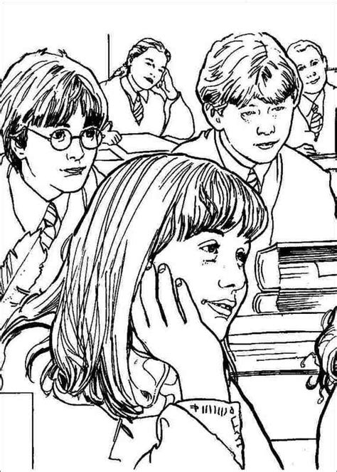 harry potter coloring pages hermione harry potter 058 coloring page